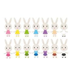 Set of cute bunnies vector