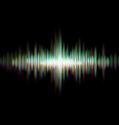 Shiny sound waveform vector image vector image
