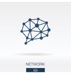 Social media concept icon logo vector image vector image