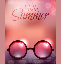 Summer poster with sunglasses and calligraphy vector