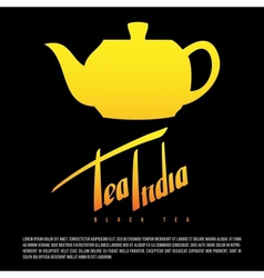Tea india greetings hand lettering set vector image vector image
