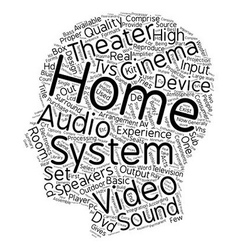 The inside and out of a home theater text vector