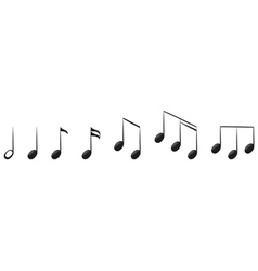 The musical notes vector