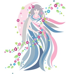 The women of Spring season vector image
