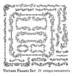 Vintage frames collection vector