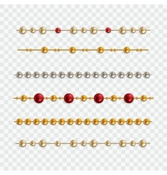 Set of garland beads vector
