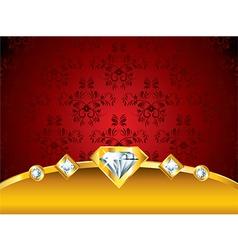diamonds background vector image