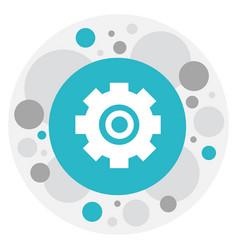 Of repair symbol on cogwheel vector
