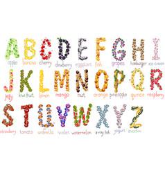 school alphabet vector image