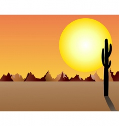 Desert and rocks vector