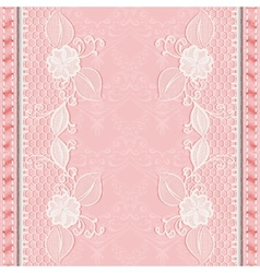 Template greeting or invitation card with lace vector
