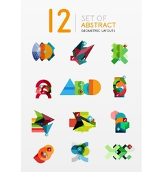 Set of abstract geometric layout vector