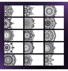 Mandalas business card 2 vector image