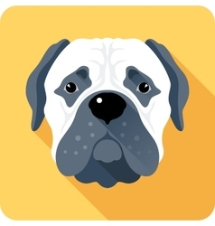 Dog bullmastiff icon flat design vector