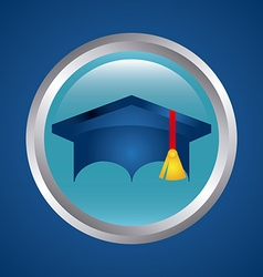 Graduation and university design vector