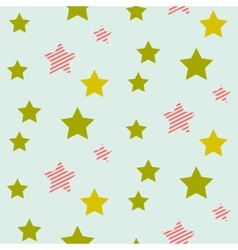 Stars on night sky boy seamless pattern vector