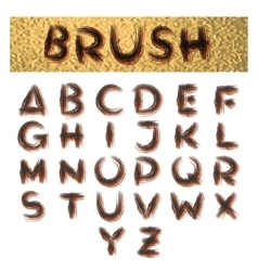 Handmade brush alphabet vector