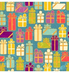 Seamless pattern with colorful gifts vector