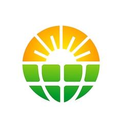 Bio ecology sun solar technology logo vector