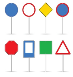 blank traffic sign set one vector image vector image
