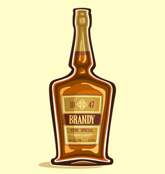 Bottle of brandy vector