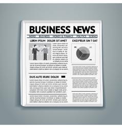 Business newspaper vector