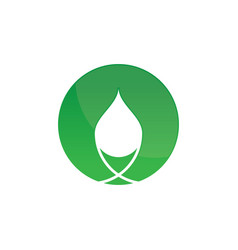 Circle eco waterdrop logo image vector