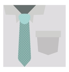 Close up formal shirt with dotted necktie vector