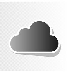 cloud sign new year blackish vector image