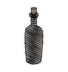 color crayon stripe cartoon spa bottle with cork vector image vector image