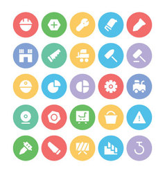 Construction icons 11 vector