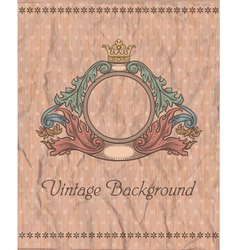 Emblem on the vintage background vector