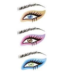 Eyes design elements vector image vector image