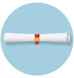 Flat design modern of graduation diploma icon vector