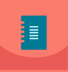 Flat style blank with spiral realistic notepad vector