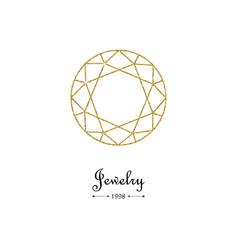 gemstone faceting gold pattern vector image