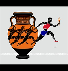 Greek runners vector