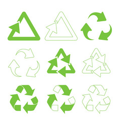 green triangular recycle vector image vector image