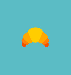 icon flat croissant element vector image vector image