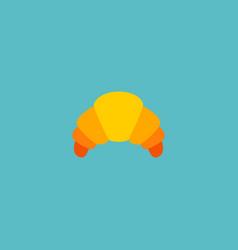 Icon flat croissant element vector