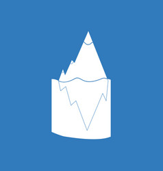 Icon iceberg in water vector