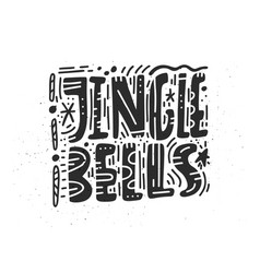 Jingle bells greeting card design vector