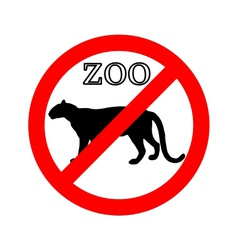 Leopard in zoo prohibited vector