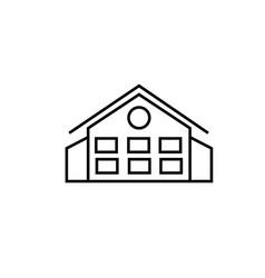 Mansion icon vector