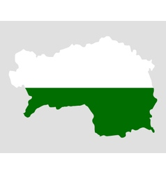 Map and flag of styria vector