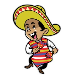 Mexican boy mascot vector