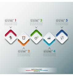 Modern infographics process template vector