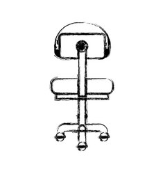 Monochrome blurred silhouette of office chair back vector