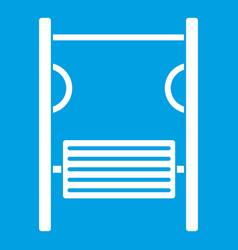 Playground simulator icon white vector