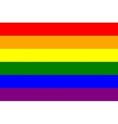 Rainbow gay pride flag symbol of LGBT movement vector image